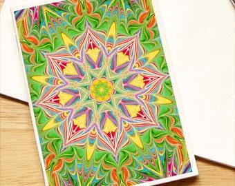 Marbled Paper Kaleidoscope Design Notebook no. 11