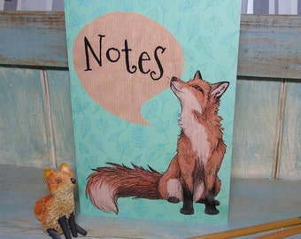 CLEARANCE A5 Fox Illustration Journal ~ Notebook with 48 Lined Pages