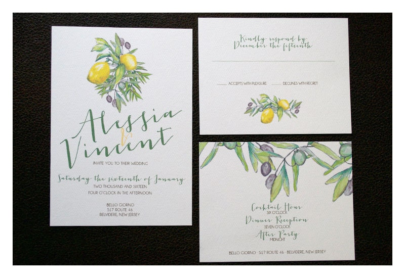 Tuscan Themed Wedding Invitations: Rustic Italian Wedding Invitation Rustic Countryside