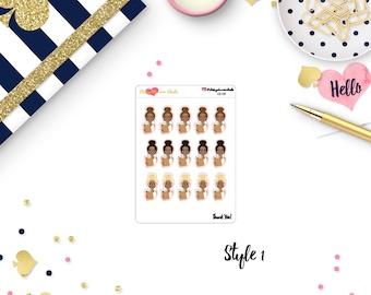 Shopping Girl Dark Planner Stickers