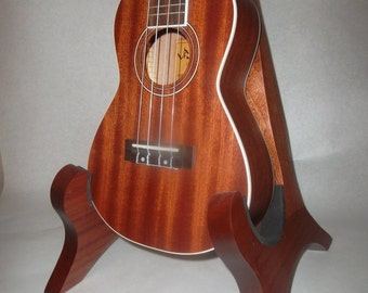 African Sapele Electric Guitar/Ukulele Stand