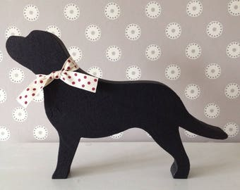 Black Labrador wooden Decoration, Gift