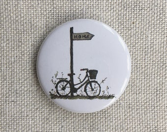 Bicycle. Pin-back Button Badge