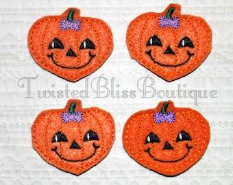 Set Of 4 Pumpkin Felties