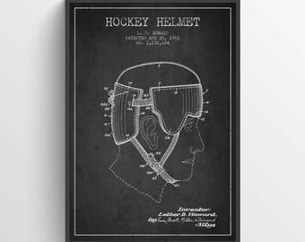 1963 Hockey Helmet Poster, Hockey Poster, Hockey Art, Hockey Decor, Home Decor, Gift Idea, SPHO12P