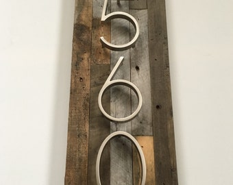 Custom House Numbers Sign - Vertical or Horizontal, Rustic, Address plaque, address sign, wood, metal, housewarming gift, craftsman, new
