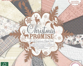 NOVELTY SET 16 LEAF CARDSTOCK PAPER SHABBY CHIC VINTAGE CHRISTMAS SCRAPBOOKING PROMISE COPPER 20X20CM