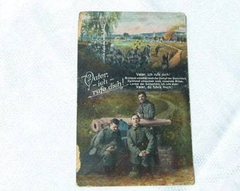 1916 German military Postcard, Military  Correspondence, first world war postcard,german soldier