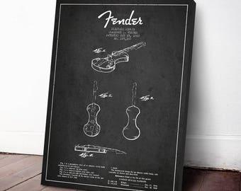 1960 Fender Electric Violin Patent, Violin Poster, Violin print,  Canvas Print, Wall Art, Home Decor, Gift Idea, MUIN19C
