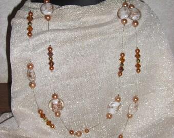 """Long necklace mi """"A day of celebration"""" gold and Topaz"""