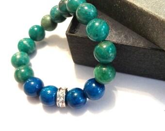 Reiki Bracelet, Reiki Jewelry, Meditation Bead Bracelet, Healing Bracelet, Meditation Jewelry, Malachite Bracelet, Mala Bracelet