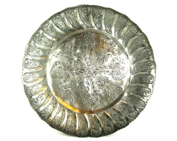 Vintage Middle Eastern Silver Plated Tray