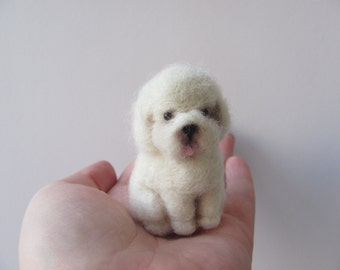 Little needle felted Bichon