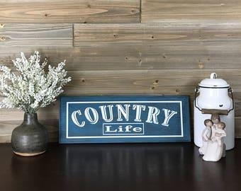 Country Living Room Decor, Farmhouse Sign, Custom Vinyl Decor, Family Room Decor, Distressed Home Decor