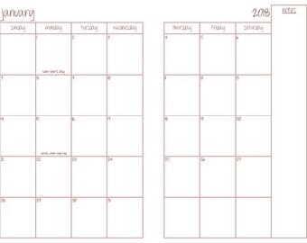 Custom Wire Bound Planner/Calendar/Organizer