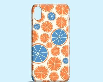 Funky oranges phone case / Bright iPhone X case / orange iPhone 8 case / 8 Plus / iPhone 7 / 7 Plus / iPhone Se / iPhone 6, 6S / iPhone 5/5S