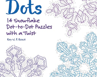 Snowflake Dot to Dot Skip Counting Number Puzzles. 14 different puzzles for kids to learn math, and adults to keep their brains sharp.