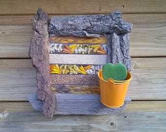 wood wall planter
