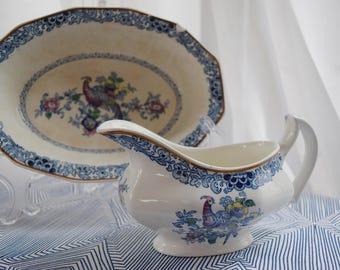 Vintage Booth's Pheasant China Serving Set