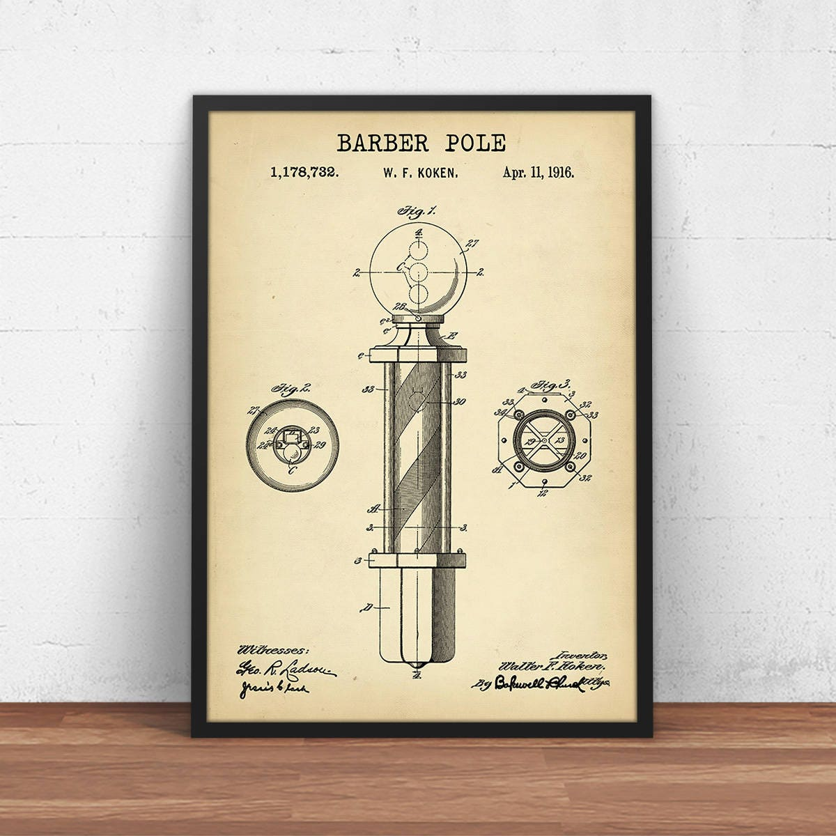 Barber shop decor barber pole patent print digital download zoom malvernweather Image collections