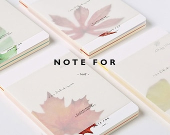 Leaf Notebook Collection | Plants Traveler's Notebook | Autumn Diary | Minimal Notepad Planner | Designer's sketchbook | Artist notebook
