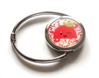 Foldable purse hook Red Apple