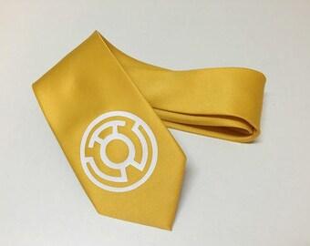 Yellow  Lantern Necktie