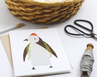 Boxed Set of 8 Merrily Penguin Cards