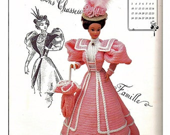 The Gibson Girl Collection of the Gay Nineties April Fashion Doll  Crochet Pattern  Annies Calendar Bed Doll Society 7704
