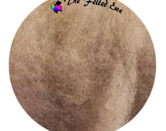 Needle Felting Maori Wool Batt / FB37 Rare Earthenware Maori Wool Fluffy Batt