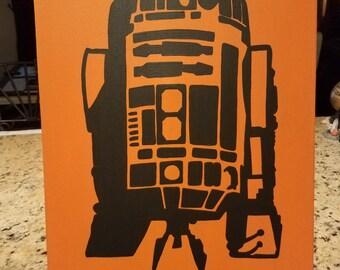 R2D2 Acrylic on Canvas