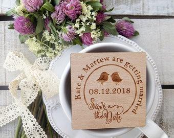 Love Birds-Wood-Wedding-Magnets, Love Birds-Wedding-Magnets, Wooden Magnet, Wooden-Save-The-Date-Magnet, Wooden Save The Date Magnet