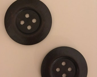 2 50mm expresso color wooden buttons