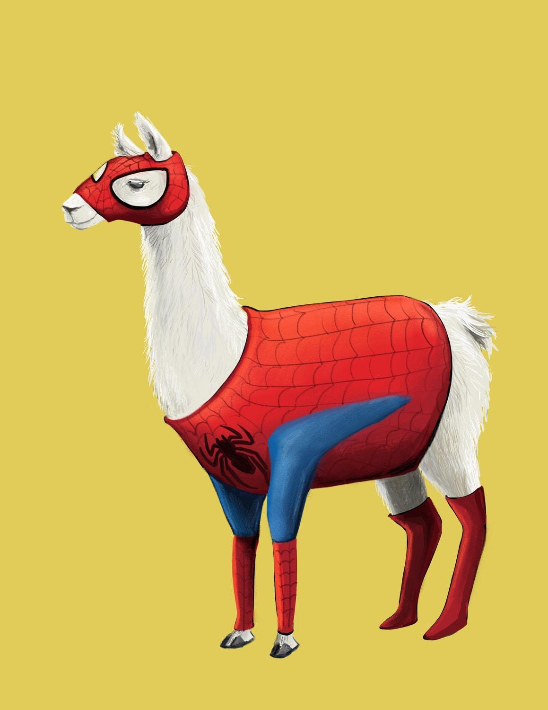 Hombre araña Llama marvel aficionado al arte tonto dibujo