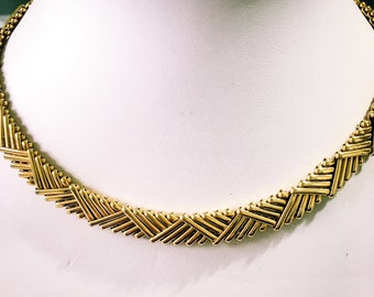 Monet necklace, gold link necklace, gold chain, collar necklace, Monet collar, choker necklace, Monet jewellery, gold choker, choker collar