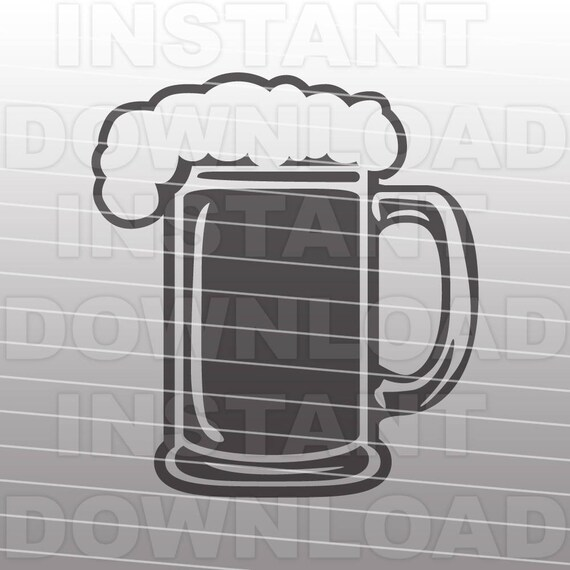Beer Svg Filebeer Mug Svg Filecutting Template Vector Clip