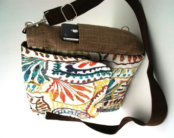 womens backpack purse converts to messenger, shoulder tote bag ,crossbody handbag, crossbody bag ,paisley purse, fits IPAD
