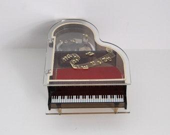 Vintage Piano Music Box, Sankyo Jewelry Box