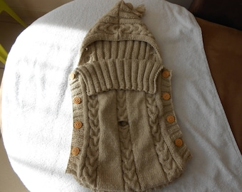 wool Bunting baby 0-3 months