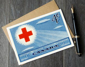 Red Cross card, Red Cross gifts, Red Cross art, Canadian Red Cross, gifts for doctors, gift ideas for nurses, medical gifts, doctor gifts