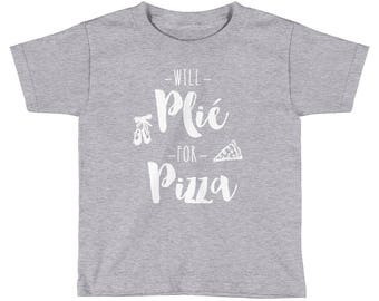 Will Plie For Pizza Kids Shirt | Ballet shirt | dance shirt | ballerina shirt | ballet | ballerina | dancer gift | Gift For Dancer | Dance