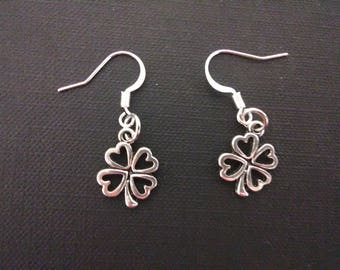 Lucky four leaf clover earrings