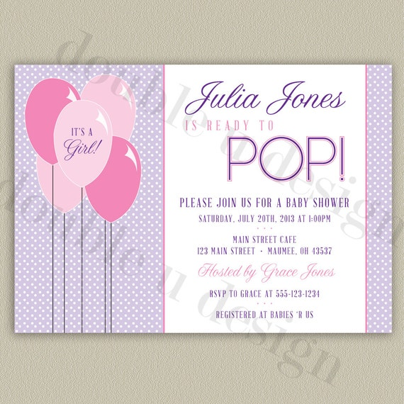 Color options ready to pop printable baby shower invitation filmwisefo