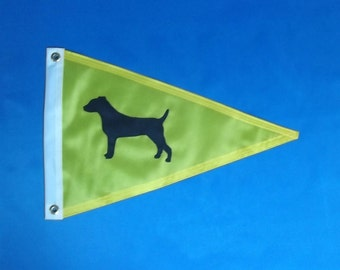 Jack Russell Terrier Dog House Pennant Flag Ready to Ship
