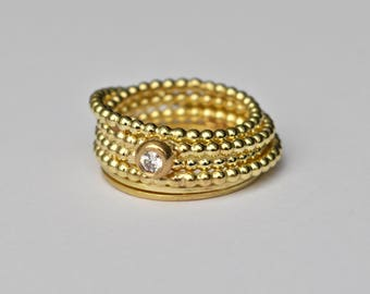 18k solid gold ring, Endless wrapped ring, Solid gold wrapped ring, Unique ring,