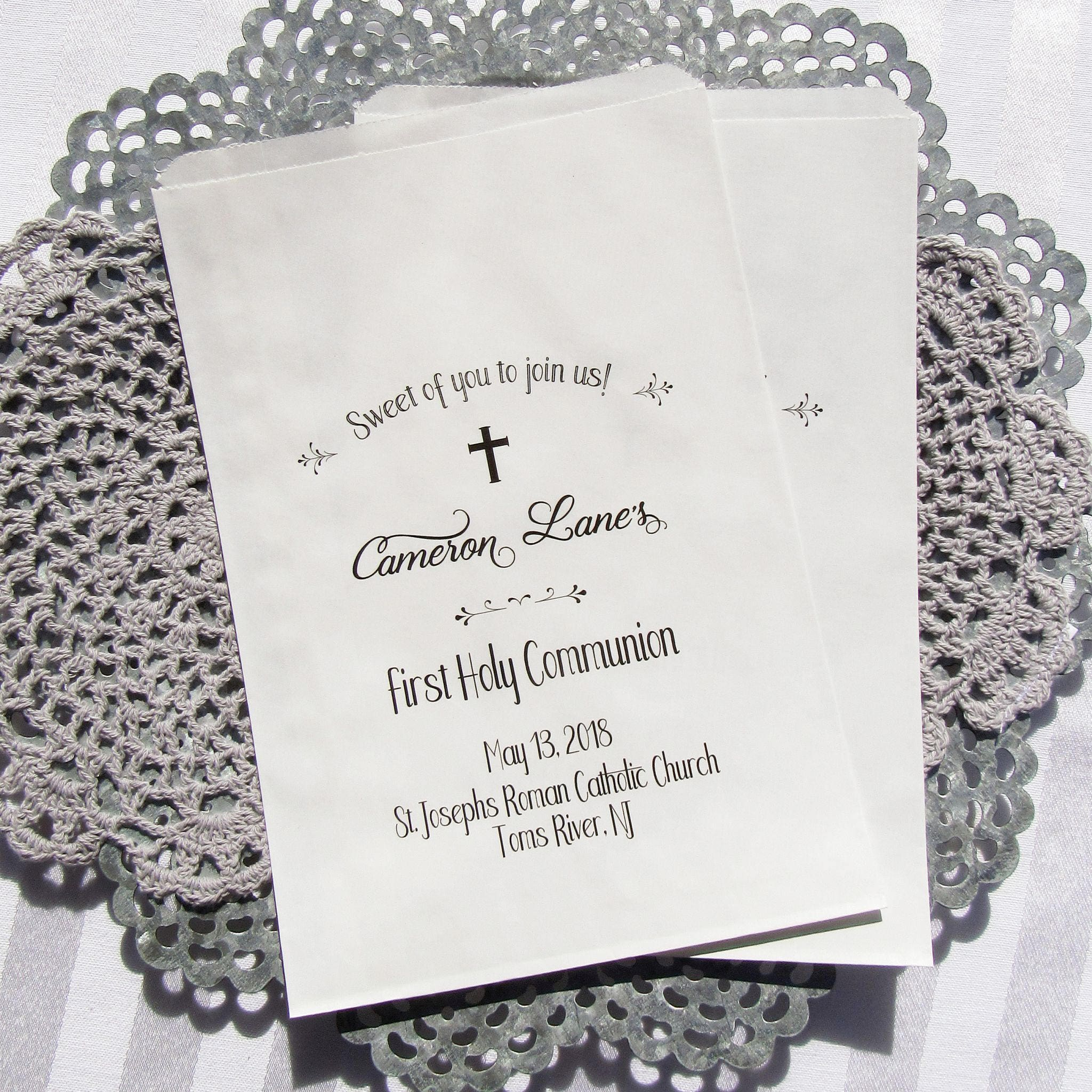 First Communion Favors Communion Favor Bags Girl First