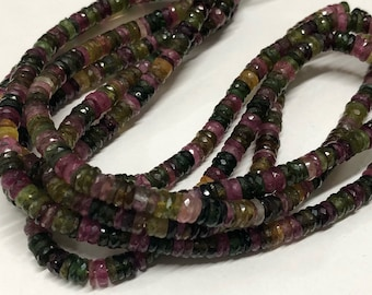 Multi Tourmaline Tires Faceted