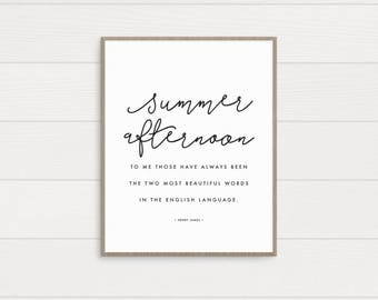 Summer Afternoon Art Print • Printable • Digital Download