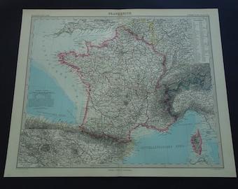 Lyon map Etsy