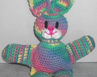 Crocheted Easter Bunny Rabbit - Bunny Rabbit Stuffed Animal - Amigurumi Bunny Rabbit - Bunny Plushie - Bunny Rabbit Plush Toy